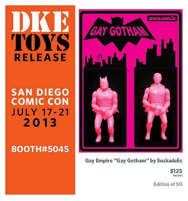 "San Diego Comic-Con 2013 ""Gay Gotham"" Batman and Robin Bootleg Resin Figures by Sucklord"