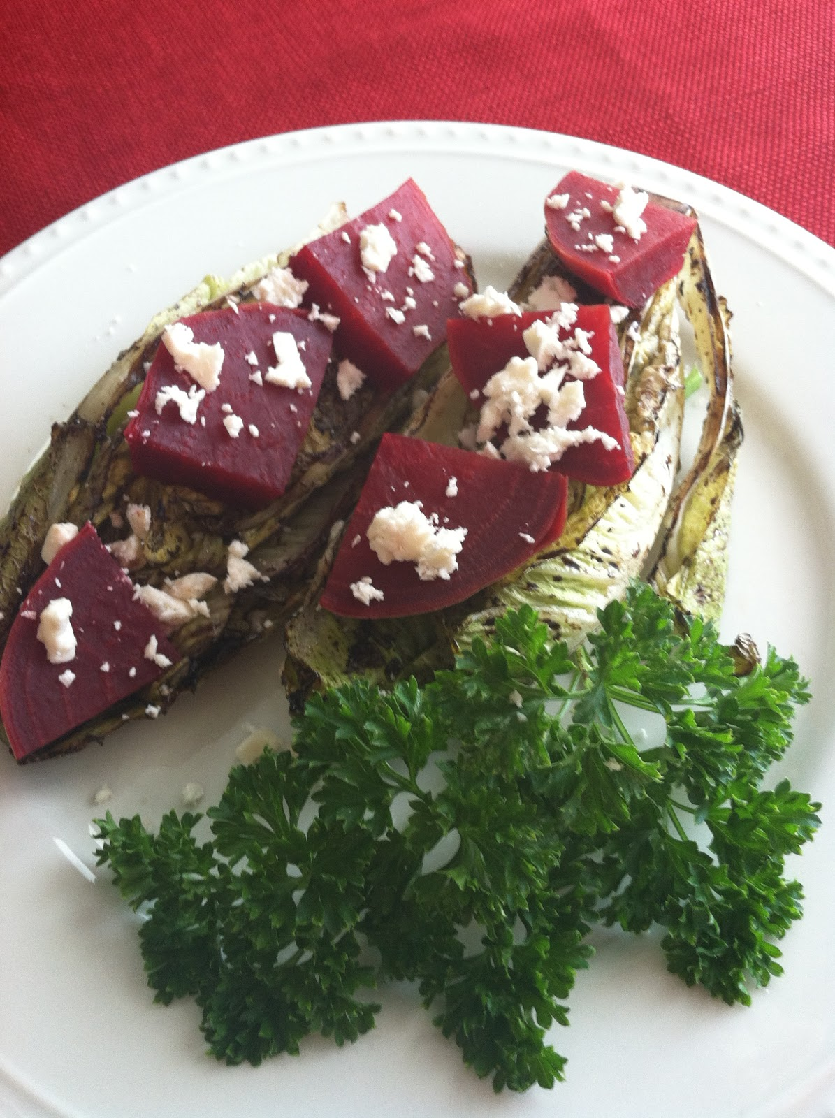 Produce Pantry: Grilled Lettuce and Beet Salad