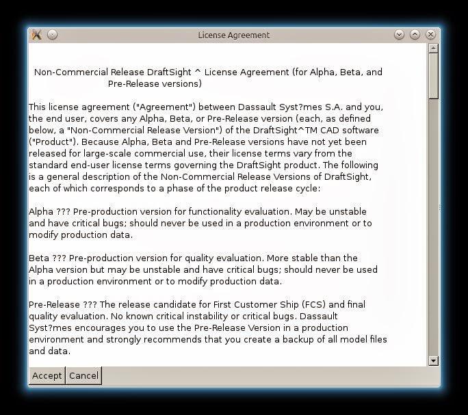 installazione draftsight linux mint