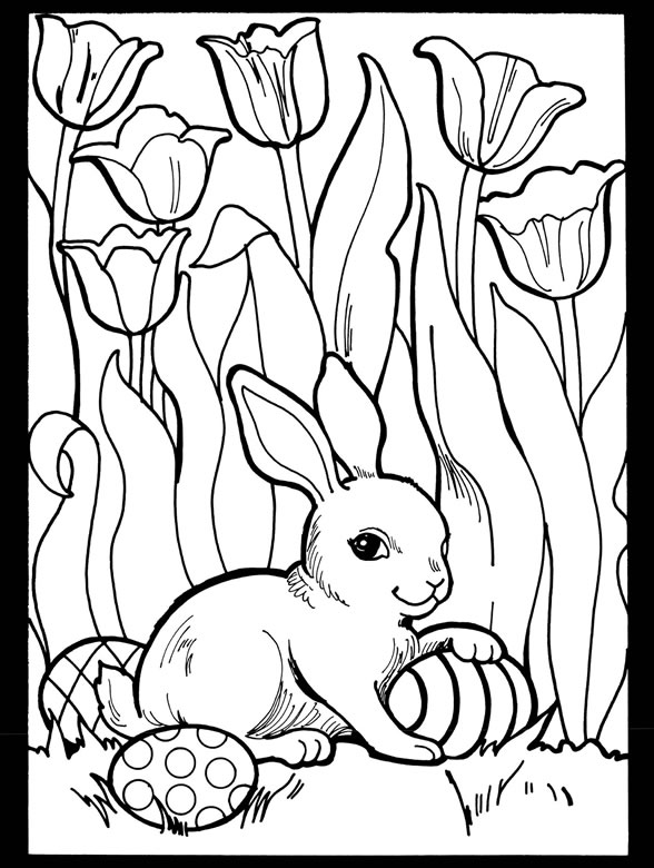 Inkspired musings it 39 s a tulip time with deviled egg recipes for Spring themed coloring pages