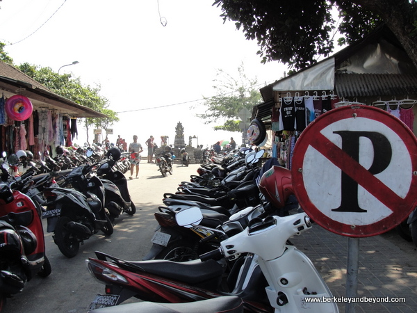 parked motor scooters in Bali