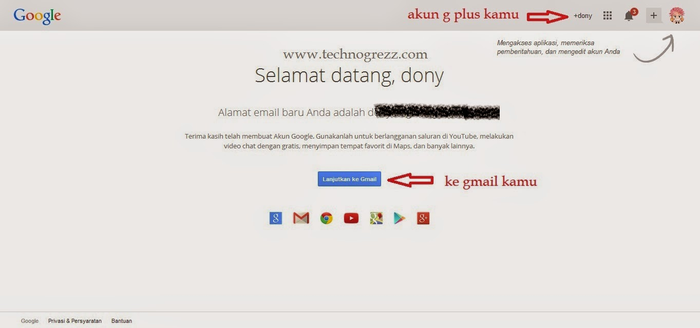 Cara membuat gmail - Technogrezz