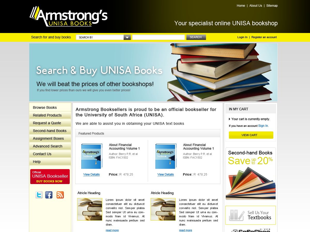 ... of Armstrong's Books: Preview of Armstrong's Unisa Books new site: armstrongsunisabooks.blogspot.com/2011/11/preview-of-armstrongs...
