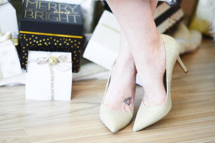 Le Chateau glitter heels Vancouver blogger