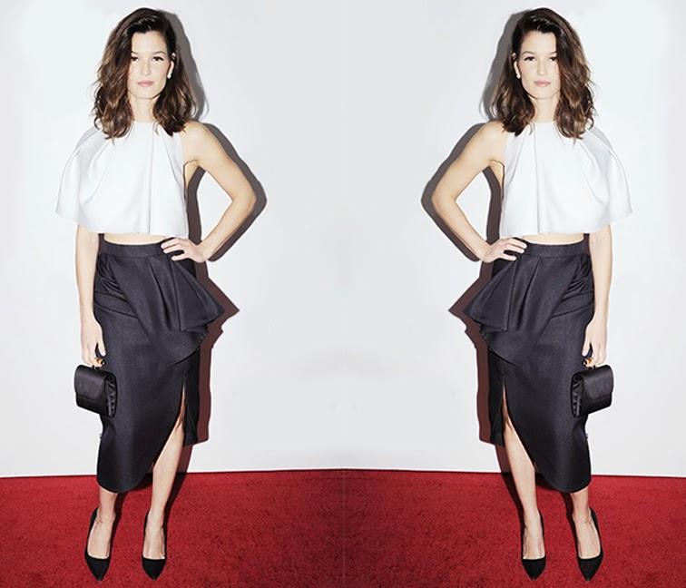 Hanneli Mustaparta in Dior red carpet look