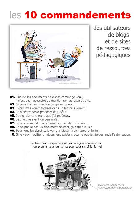 Les 10 commandements des utilisateurs de blogs et de sites de ressources pédagogiques