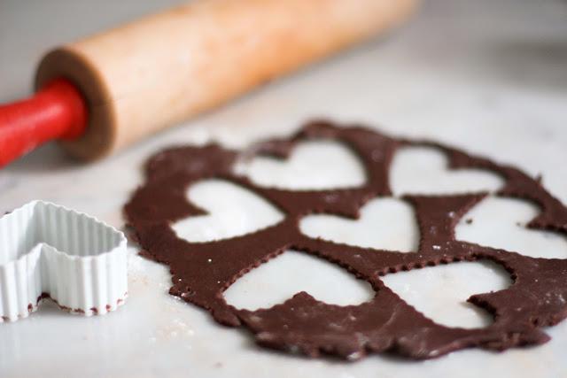 Chocolate Heart Ice Cream Sandwiches | www.feastingathome.com