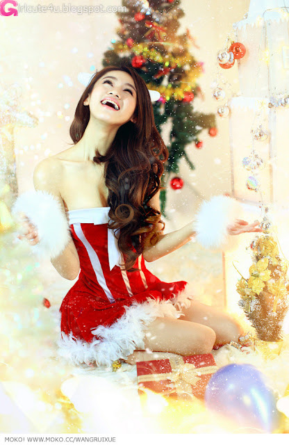 5 Xi Ran - Jingle Bells-very cute asian girl-girlcute4u.blogspot.com