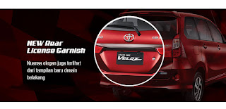 New Rear License Garnish Grand New Veloz
