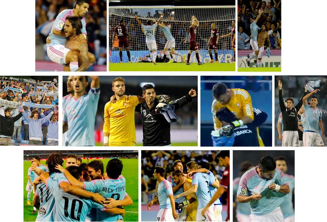 Nolito, Larrivey, Sergio Álvarez, Gato de Catoira, Celta, Deportivo, septiembre 2014, Balaídos