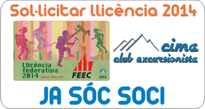 Federa't FEEC ó FEDME 2014 - Socis Cima