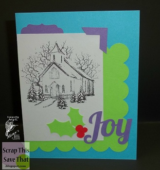 Scrap this save that purple passionchristmas card i used a purple and a purplegrey cardstock along with a few other non traditional christmas colors to come up with this sweet holiday card m4hsunfo
