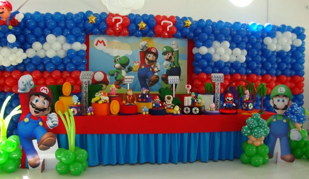 Fiestas infantiles decoradas con mario bros - Manteles de cumpleanos infantiles ...