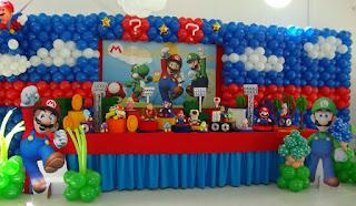 Fiestas Infantiles Decoradas con Mario Bros