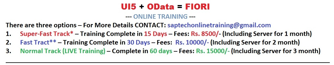SAP UI5-FIORI-OData-NW Online Training