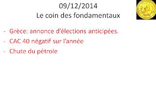Actualités bourse 09/12/2014