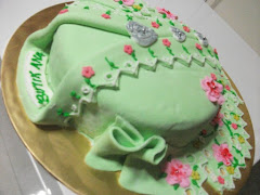 KEK FONDANT KEBAYA HIJAU