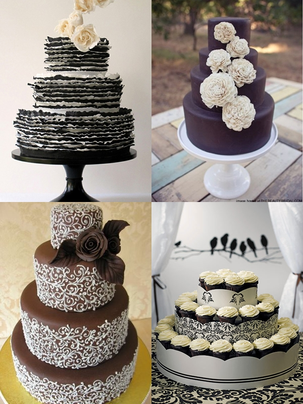 Chocolate inspired wedding cakes