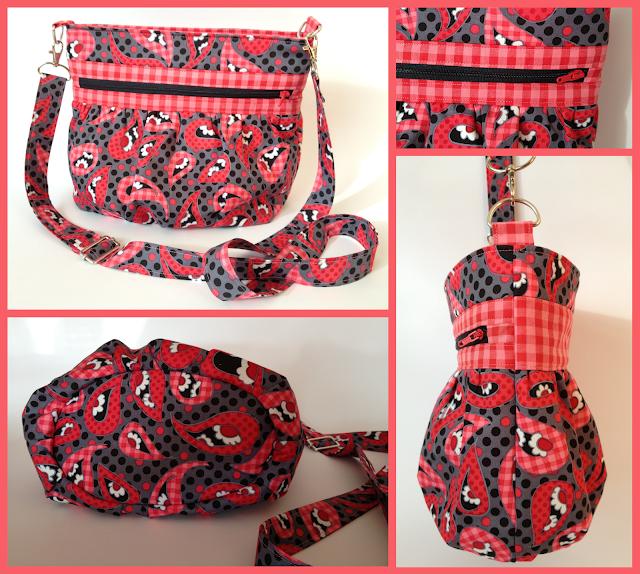 Handtasche KIRA nach meinem freebook - von Allie and Me design