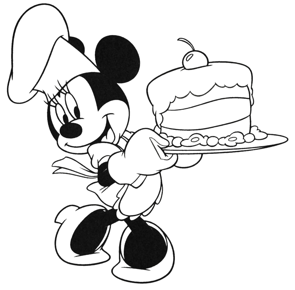 Disney Coloring Pages Minnie And Mickey Coloring Page