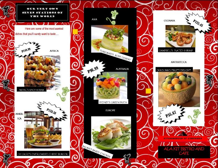 20 Contoh Desain Brosur Makanan Menarik, Simple, Elegan, dan Unik