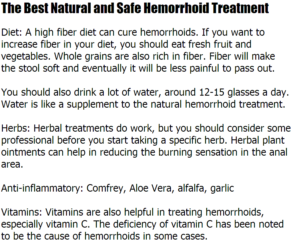 natural hemorrhoid treatment the best natural and safe hemorrhoid