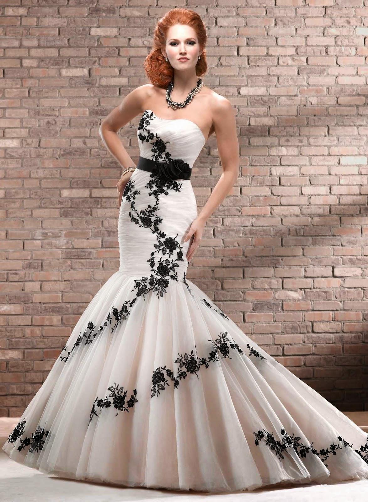 Vestidos de Novia con Flores Negras, parte 3