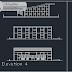 مخطط بسيط لمركز رياضي اوتوكاد dwg