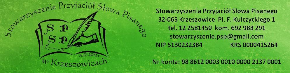 Stowarzyszenia Przyjaciół Słowa Pisanego w Krzeszowicach