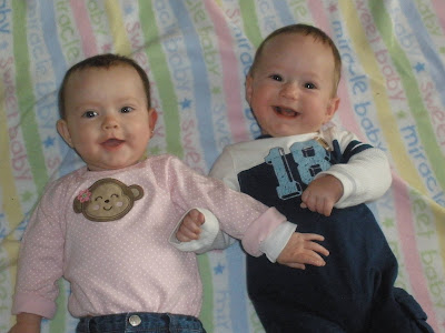 cute lovely twin babies posing