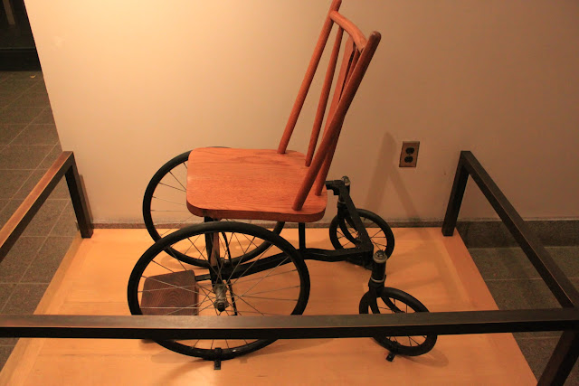 Franklin D Roosevelt's prototype wheelchair was displayed at FDR Memorial in Washington DC, USA