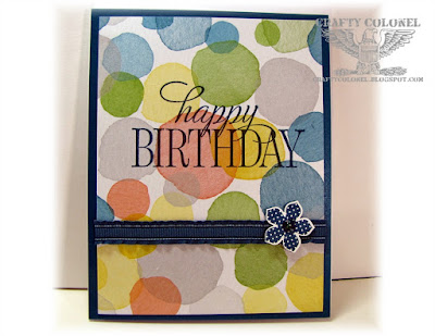 Crafty Colonel Donna Nuce, Stampin Up stamps and DP, Birthday Card