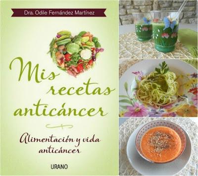 mis recetas anticancer, odile fernandez