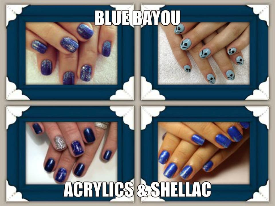 Shellac acrylic french white manicure red blue HAPPY NEW YEAR'S EVE  2015