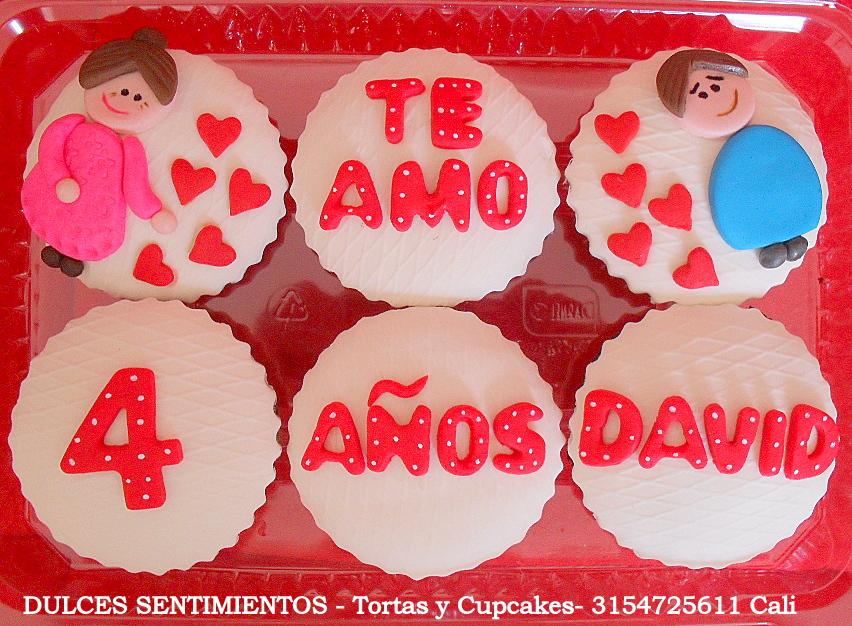Mensajes De Amor En Cupcake Pastelitos Muffins Cali Colombia