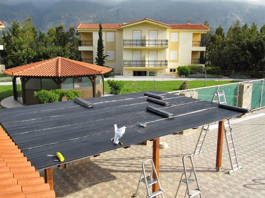 Asphalt Roll Roofing : Monachus apartments in frangokastello sfakia