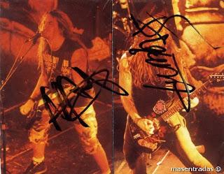 autografo de max cavalera