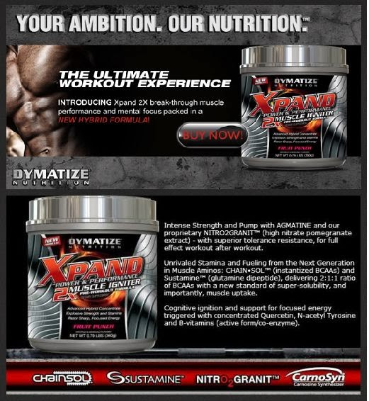 Dymatize Xpand Power & Performance 2x Muscle Ignitor - hybrid formulation of instantized BCAAs
