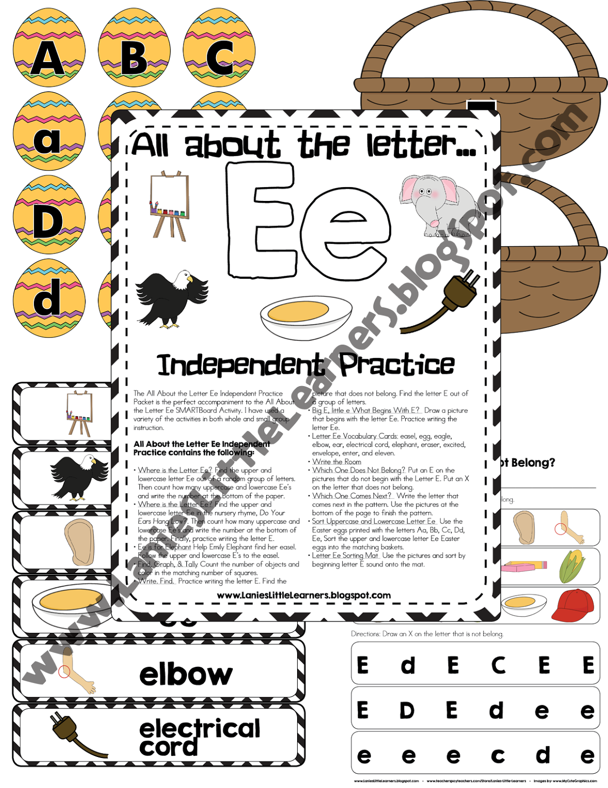 All About the Letter Ee Independent Practice
