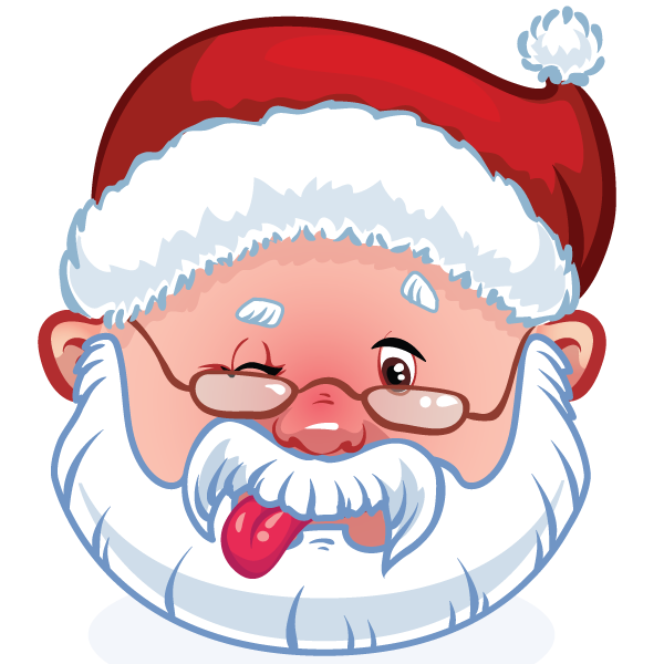 Winking Santa Claus Emoticon