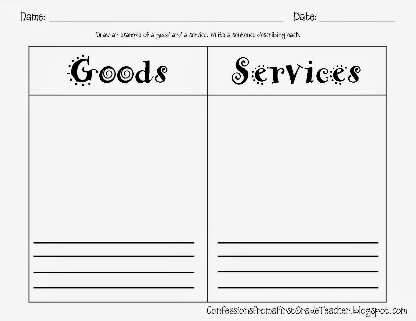 Printables Goods And Services Worksheets goods and services worksheets abitlikethis worksheet first grade images