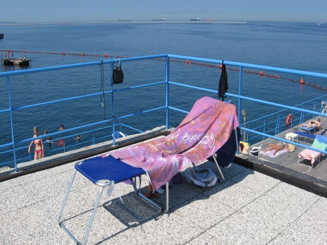 La mia postazione balneare a Trieste