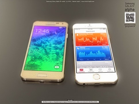 Samsung Galaxy Alpha vs iPhone 6 4