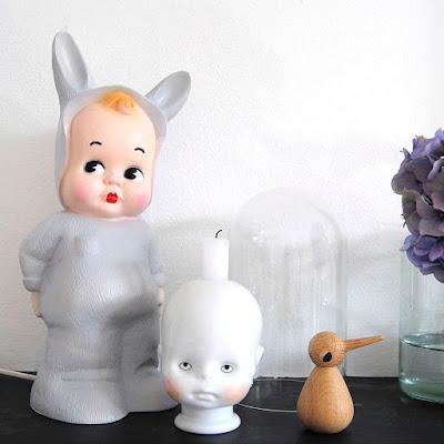 Lapin & Me baby Konijn lamp grijs