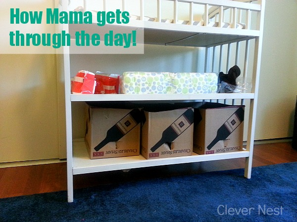 gain tons of storage, make diy wrapped fabric storage boxes (see how she did it for free!)