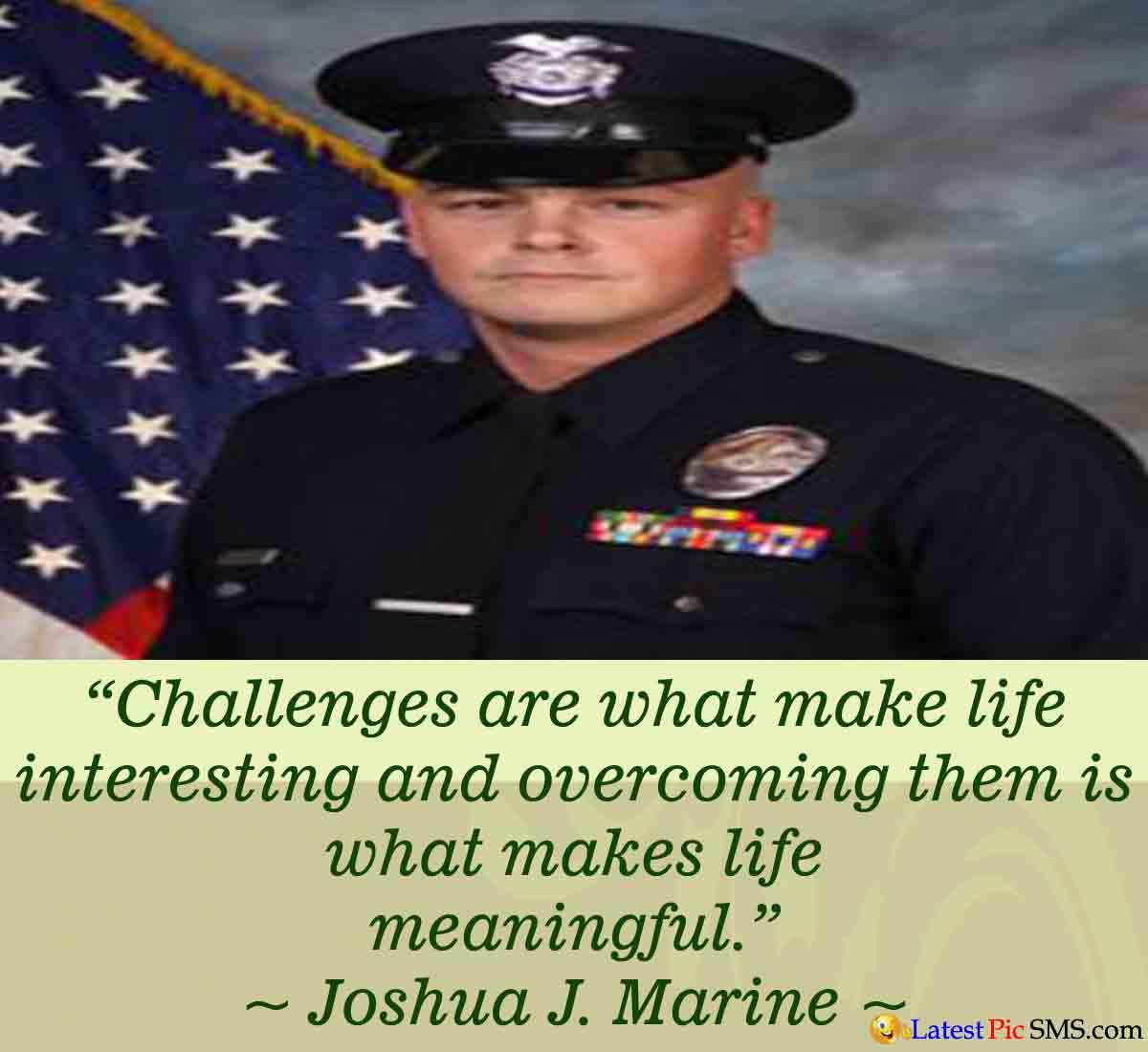 Joshuda J. Marine Life Quote