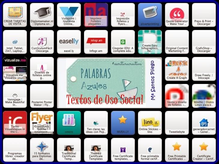 ♥  Recursos TIC para crear textos de uso social