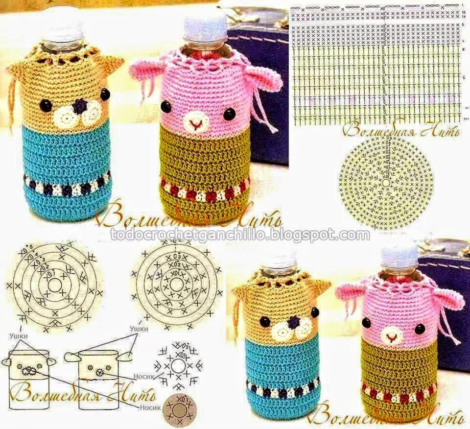 Patrones de Porta Botella para niños - Crochet | Todo crochet