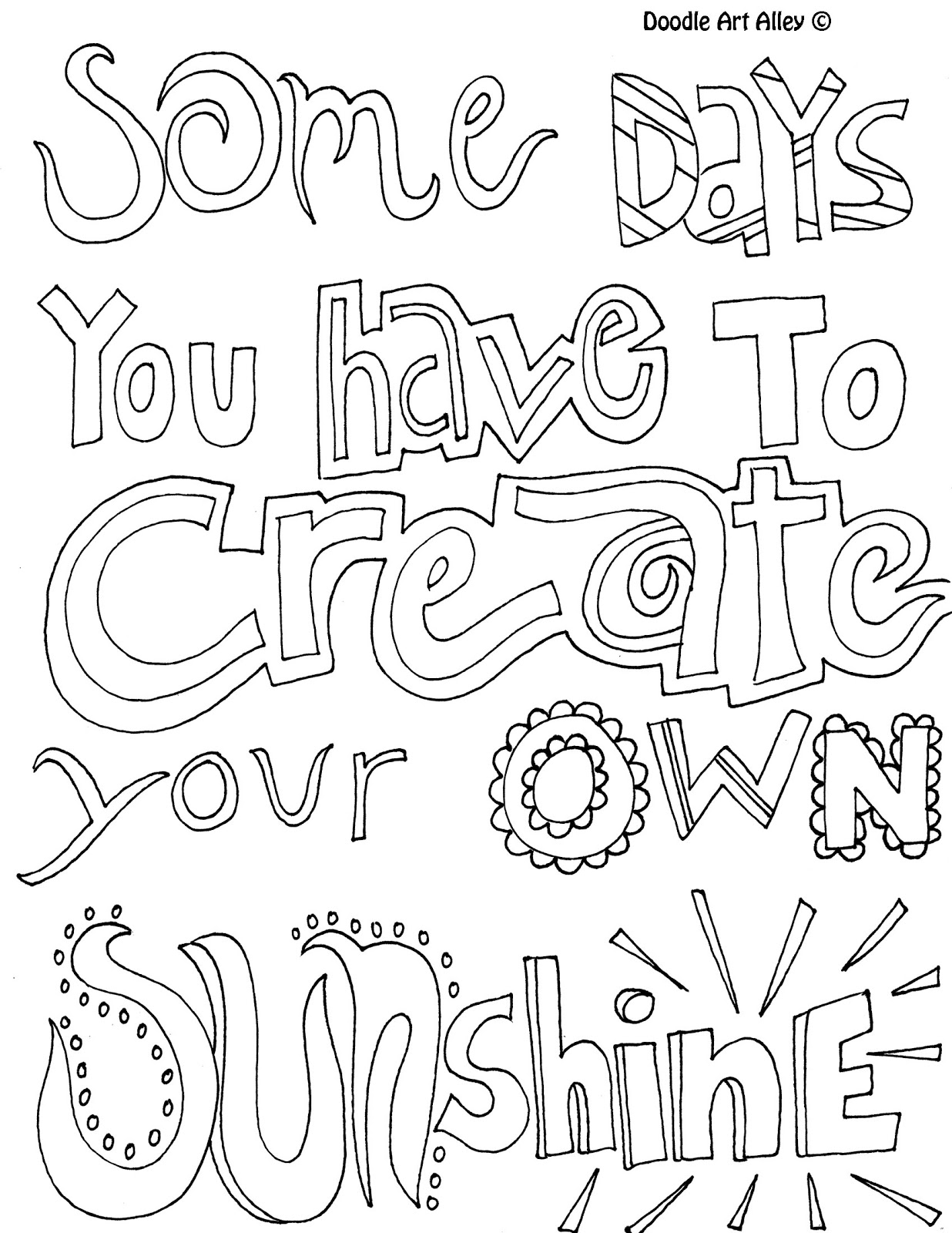Positive quotes coloring pages quotesgram for Positive quotes coloring pages