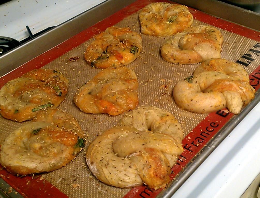 Kissing the Cook: Pitzels (Stuffed Pizza Dough Pretzels)